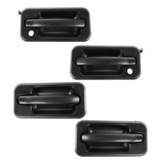 03-05 Hummer H2 Textured Black Pull Lever Outside Door Handle SET of 4