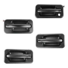 06-09 Hummer H2 Textured Black Pull Lever Outside Door Handle SET of 4