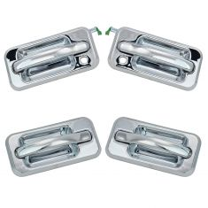 03-05 Hummer H2 All Chrome Pull Lever Outside Door Handle SET of 4