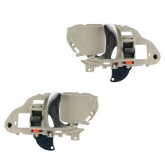 95-02 GM Full Size PU, SUV Inner Light Beige w/Chrome Lever Inner Door Handle PAIR