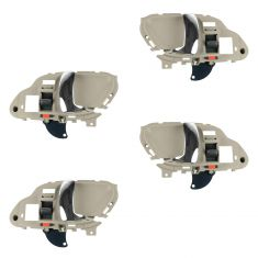 95-02 GM Full Size PU, SUV Inner Light Beige w/Chrome Lever Inner Door Handle Kit (Set of 4)