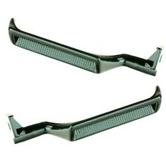 87-96 Ford Bronco; 87-98 Ford F150, F250, F350 Black Metal Inner Door Handle PAIR