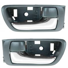 02-06 Toyota Camry Gray w/Chrome Lever Inside Door Handle PAIR