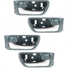 02-06 Toyota Camry Gray w/Chrome Lever Inside Door Handle SET of 4