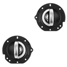 02-07 Jeep Liberty Front Black w/Satin Chrome Inside Door Handle w/Bezel RepairKit PAIR