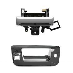 07-12 Silverado, Sierra Chrome Tailgate Handle & Bezel Kit (w/Lock Provision & Camera Hole)