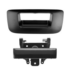 07-12 Silverado, Sierra Smoorth Black Tailgate Handle & Bezel Kit