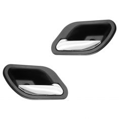 01 (from 3/1/01)-03 BMW 525i, 530i, 540i, M5 Black w/Chrome Lever Inside Door Handle PAIR