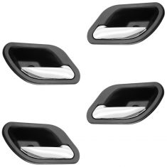 01 (from 3/1/01)-03 BMW 525i, 530i, 540i, M5 Black w/Chrome Lever Inside Door Handle (Set of 4)