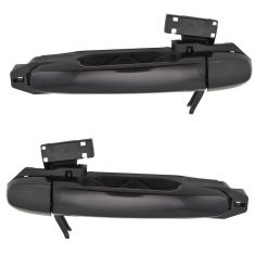 02-06 Toyota Camry; 03-08 Corolla Rear Textured Black Door Handle w/Frame & Cover PAIR