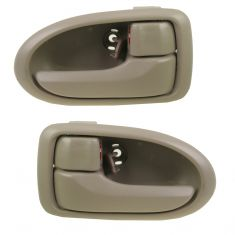 00-06 Mazda MPV Beige Front Inside Door Handle PAIR