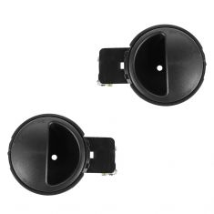 04-08 Chevy Aveo Inside Textured Black Door Handle PAIR