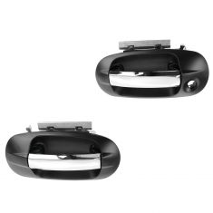 07-13 Ford Expedition, Lincoln Navigator Front Chrome/PTM Outside Door Handle PAIR (RH w/o Keyhole)