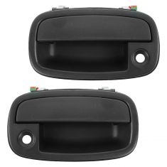 95-02 Kia Sportage Front Textured Black Outside Door Handle (w/Keyhole) PAIR