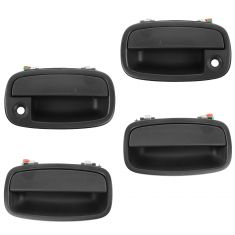 95-02 Kia Sportage Front & Rear Textured Black Outside Door Handle (Front w/Keyhole) (Set of 4)