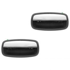 95-02 Kia Sportage Rear Textured Black w/Chrome Pull Outside Door Handle PAIR