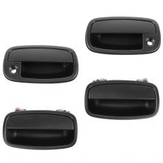 95-02 Kia Sportage Front & Rear PTM Outside Door Handle (Front w/Keyhole) (Set of 4)
