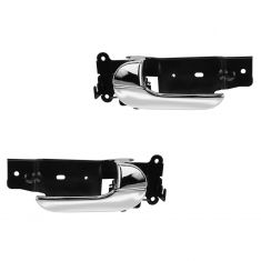 02-05 Kia Sedona Front Chrome Inside Door Handle PAIR