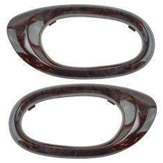04-07 Buick Rainier Woodgrain Inside Door Handle Bezel PAIR