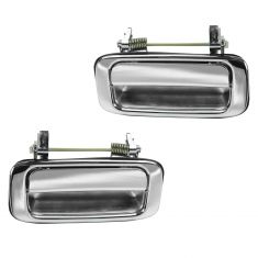 91-97 Toyota Land Cruiser Rear Chrome Exterior Door Handle PAIR