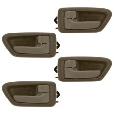 97-01 Toyota Camry Tan Front & Rear Inside Door Handle & Bezel Kit