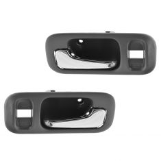 97-01 Honda CR-V; 95-98 Odyssey (w/Lock Provision) Inside Gray w/Chrome Pull Handle Door Handle PAIR