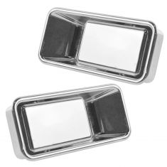87-95 Jeep Wrangler; 97-06 Wrangler w/1/2 Door Chrome Outside Door Handle PAIR