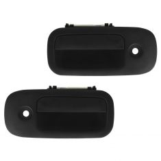 03-12 Chevy Express, GMC Savana Van Front Textured Black Outside Door Handle w/Keyhole PAIR