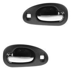 98-04 300M, Concord, Intrepid; 99-01 LHS Front Inner Textured Black w/Chrome Pull Door Handle PAIR