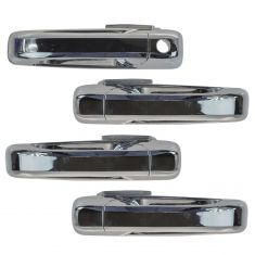 09-13 Dodge Ram 1500; 10-13 2500 3500 Outer Chrome Door Handle (w/o RF Keyhole) Set of 4