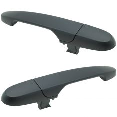 06-13 Chevy Impala; 05-13 Buick Lacrosse Outer Textured Black Door Handle Rear Pair