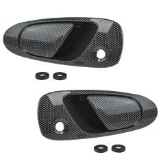 92-95 Honda Civic; 93-97 Del Sol Front Exterior Carbon Fiber Look Door Handle PAIR