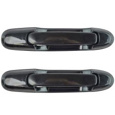 98-03 Toyota Sienna Outside Sliding Door Handle w/o Lock Hole Gloss Black Pair