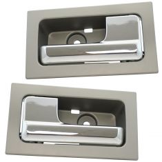 09-14 Ford F150 w/Power Locks Inside Platinum w/Chrome Pull Door Handle PAIR