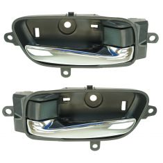 13-15 Nissan Altima, Pathfinder Front or Rear Door Chrome & Black Inside Door Handle PAIR