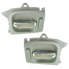 02-05 Kia Sedona Sliding Inner Chrome & Gray Door Handle Assy PAIR