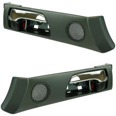 02-03 Lexus ES300; 04-06 ES330 (w/o Memory Adjust) Front Inside Black & Chrome Door Handle Pair