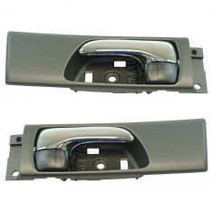 02-03 Lexus ES300; 04-06 ES330 Rear Inside Black & Chrome Door Handle Pair