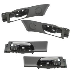 02-06 Lexus ES300, ES330 (w/o Memory Adjust) Front Inside Black & Chrome Door Handle Set of 4