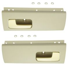 03-12 Lincoln Town Car Rear Inside Beige & Gold Door Handle Pair