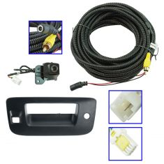 07-13 Silverado, Sierra New Body Blk Txtrd Rear View Back Up Camera Upgrade Kit (Add on)