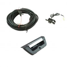 15-16 Ford F150 Chrome & Black Rear View Camera Upgrade Kit w/ lock provision (Add-on Style)
