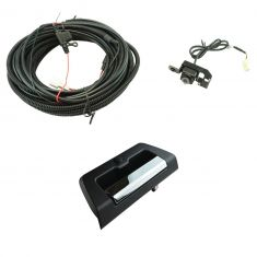 15-16 Ford F150 Chrome & Black Rear View Camera Upgrade Kit w/o lock provision (Add-on Style)