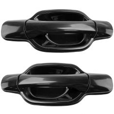 04-12 Chevy Colorado GMC Canyon Crew Cab PTM Black Rear Outside Door Handle Pair