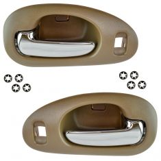 98-04 300M, Concord; 99-01 LHS Front Inner Beige w/Chrome Pull Door Handle Pair
