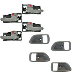 04-06 Tundra (Double Cab); 01-07 Sequoia Charcoal Front & Rear Door Inside Handle & Bezel Kit 8pc