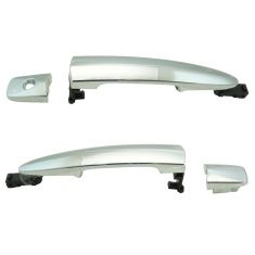 09-14 Murano; 13-16 Sentra (w/o smart key) Front Chrome Exterior Door Handle Pair