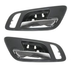 07-12 GM Full Size PU & SUV (w/Htd Seat & Memory) Front Door Inside Handle (Ebony & Chrome) Pair
