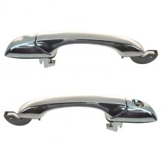 07-12 Caliber; 07-14 Compass, Patriot Front Chrome Outside Door Handle Pair w/o Pass Lock Provision