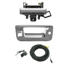 07-13 Silverado, Sierra New Body Chrome Rear View Back Up Camera Upgrade w/ Handle Kit (Add on)